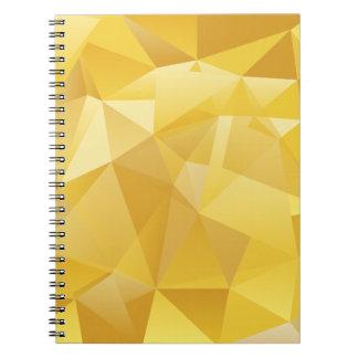 polygon pattern spiral notebook