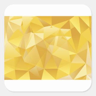 polygon pattern square sticker