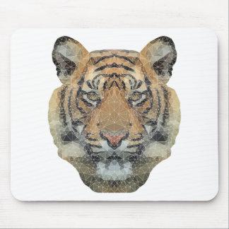 Polygon Tiger Transparent Mouse Pad