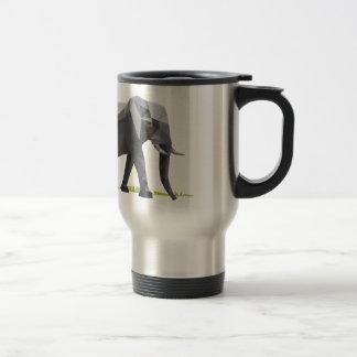 polygon trifishes graphic kind elephant travel mug