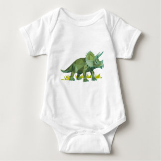 polygon trifishes graphic kind triceratops baby bodysuit