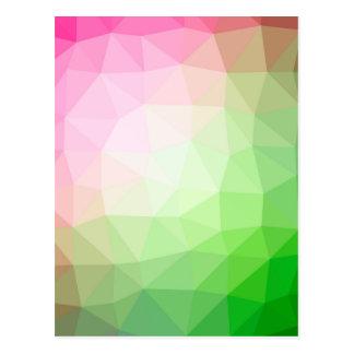 Polygonal colors background postcard