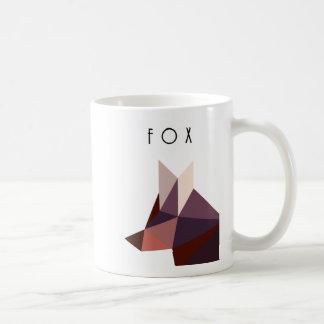 Polygonal Fox -  Geometric Fox Coffee Mug