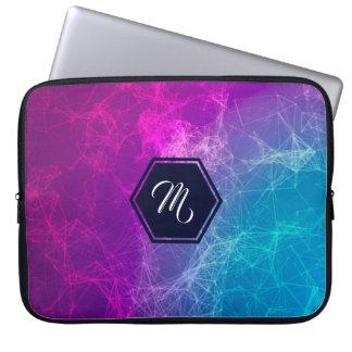 Polygonal Geometric Design Purple & Blue Laptop Sleeve