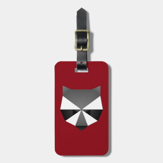 Polygonal Raccoon Luggage Tag