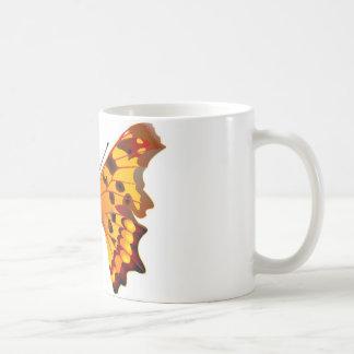 Polygonia c-album butterfly classic white coffee mug