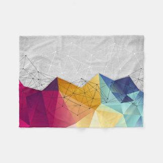 Polygons on Concrete Fleece Blanket
