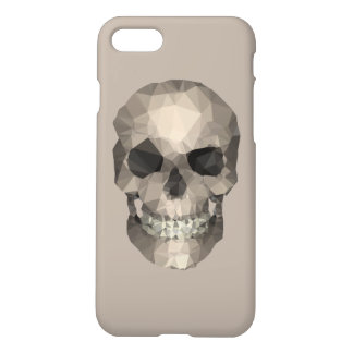 Polygons Skull beige iPhone 7 Case