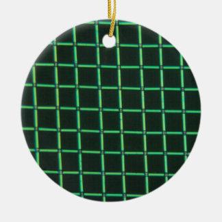 Polylactic acid under the microscope round ceramic ornament