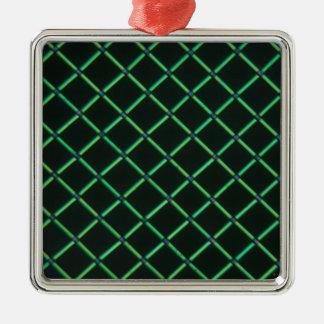 Polylactic acid under the microscope Silver-Colored square ornament