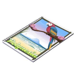 Polynesia Beach travel poster Notebooks