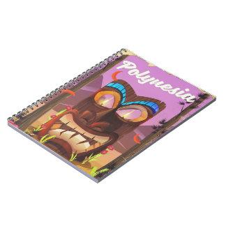 Polynesia Tiki mask Notebook
