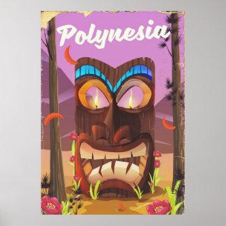 Polynesia Tiki mask Poster