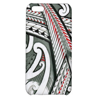polynesian art red grey tattoo design island hawai iPhone 5C cases