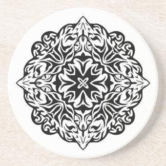 Polynesian Maori style tattoo mandala ethnic art Coaster