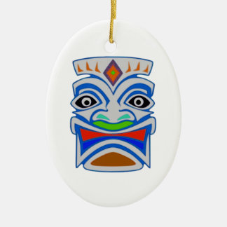 Polynesian Mythology Ceramic Oval Ornament