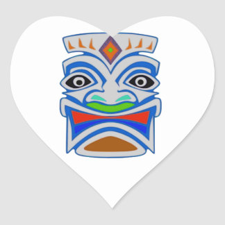 Polynesian Mythology Heart Sticker