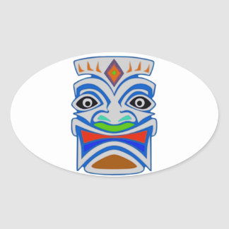 Polynesian Mythology Oval Sticker