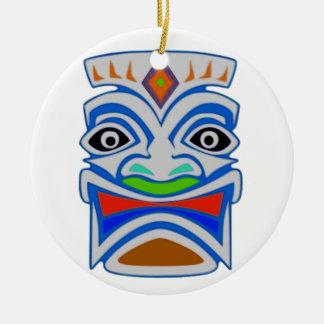 Polynesian Mythology Round Ceramic Ornament