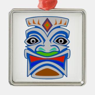 Polynesian Mythology Silver-Colored Square Ornament
