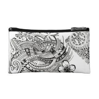 Polynesian Pattern Cosmetic Bag