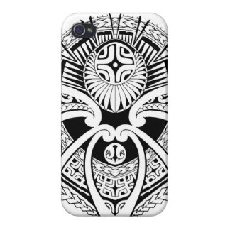 Polynesian tribal mixed tattoo design iPhone 4/4S cover