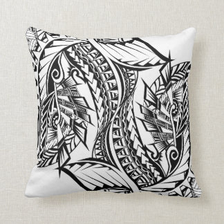 Polynesian Tribal tattoo design cushion