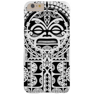 Polynesian tribal tattoo design with tiki mask barely there iPhone 6 plus case