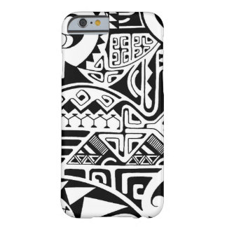 """Polynesian tribal """"The Rock"""" tattoo design Barely There iPhone 6 Case"""