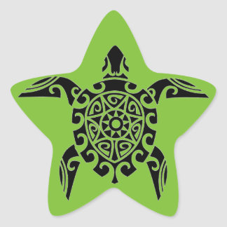 Polynesian Tribal Turtle designed Stickers