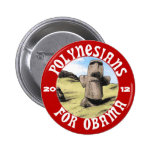 Polynesians for Obama 2 Inch Round Button