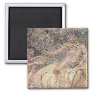 Polyphemus the Cyclops, Roman mosaic Square Magnet