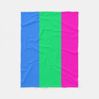 Polysexual flag fleece blanket