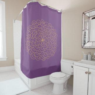 Pom Flower Shower Curtain