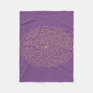 Pom Flower Throw Fleece Blanket