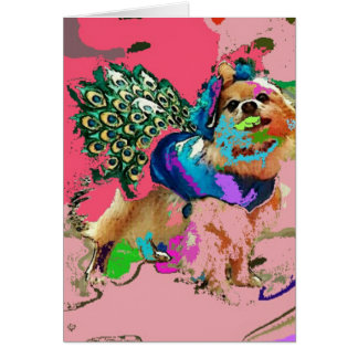 Pom Is A Pink Peacock Card