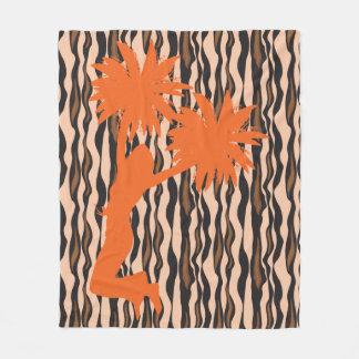 Pom Pom Cheer Tiger Stripes Cheerleader Fleece