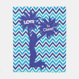 Pom Pom Cheerleader Love to Cheer Fleece Blanket