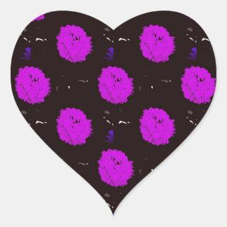 Pom Pom Design Heart Sticker