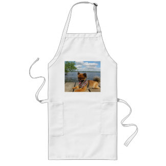 pom pup on dock long apron