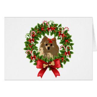 Pom Wreath Holiday Card