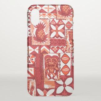 Pomaika'i Tiki Hawaiian Pineapple Vintage Tapa iPhone X Case