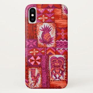 Pomaika'i Tiki Hawaiian Vintage Tapa Red Case-Mate iPhone Case