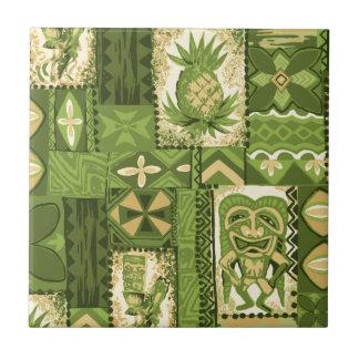 Pomaika'i Tiki Hawaiian Vintage Tapa Tile