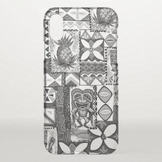 Pomaika'i Tiki Pineapple Hawaiian Vintage Tapa iPhone X Case