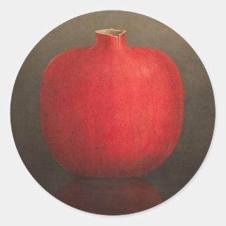 Pomegranate 2010 classic round sticker