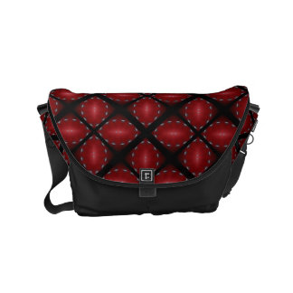 Pomegranate Abstract Red Black Petals Design Messenger Bag