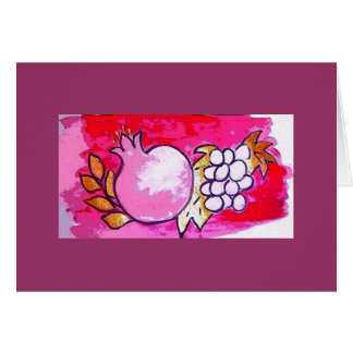 Pomegranate and Grape Greeting/Note card