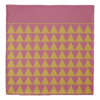 Pomegranate and Tapestry Gold Triangles Reversible Duvet Cover