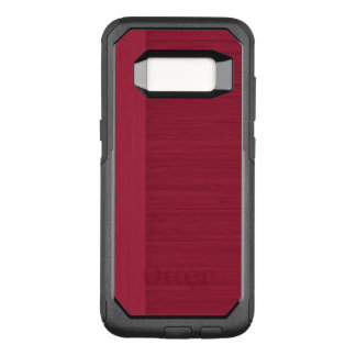 Pomegranate Bamboo Border Wood Grain Look OtterBox Commuter Samsung Galaxy S8 Case